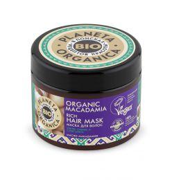 Маска для волос для сияния и блеска Planeta Organica BIO Organic Macadamia