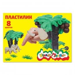 """Пластилин """"Каляка-Маляка"""" 8 цветов"""