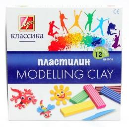 "Пластилин Луч ""Modelling Clay"" Классика, 12 цветов"
