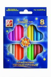 """Пластилин перламутровый """"Луч"""" 8 цветов"""