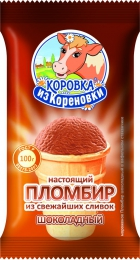 """Пломбир шоколадный из свежайших сливок """"Коровка из Кореновки """""""