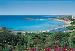 Пляж Nissi beach (Кипр, Айя Напа)
