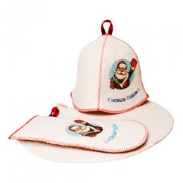 """Подарочный набор для бани и сауны """"Дед Мороз"""" Eva"""