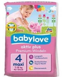 Подгузники Babylove Aktiv Plus