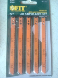 Полотна для электролобзика FIT Jig saw blades set