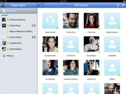 Приложение Skype для iPad