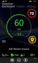 Приложение Speedtrap Alert для Windows Phone