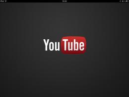 Приложение YouTube для iPad