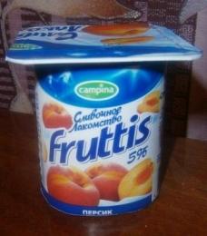 """Продукт йогуртный пастеризованный Fruttis """"Сливочное лакомство"""" Персик"""
