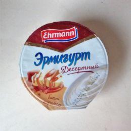 """Продукт йогуртный пастеризованный с бананом и карамелью Ehrmann """"Эрмигурт. Десертный"""""""