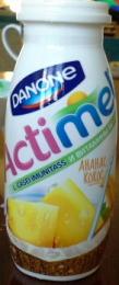 """Кисломолочный продукт """"Actimel"""" ананас-кокос"""