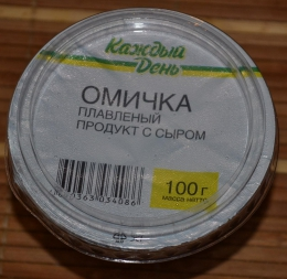 """Продукт плавленый с сыром """"Омичка"""" Каждый день"""