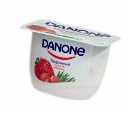 Продукт творожный Danone Клубника-земляника