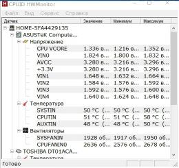 Программа CPUID HWMonitor для Windows
