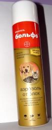 Аэрозоль инсектоакарицидный для собак и кошек Больфо Bayer Блохи, вши, власоеды, клещи