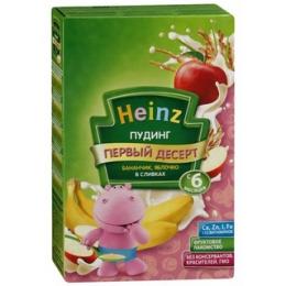 """Пудинг Heinz """"Первый десерт"""" бананчик, яблочко в сливках"""