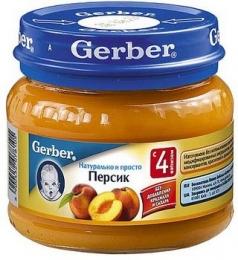 Детское пюре Gerber персик
