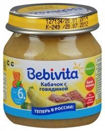 Пюре овощемясное Bebivita «Кабачок с говядиной»