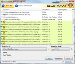 Расширение для браузера DownThemAll!