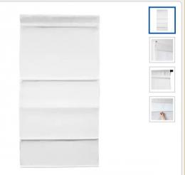 Римская штора белая Ikea Рингблумма 60х160 см