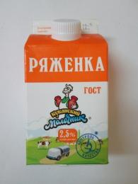 """Ряженка """"Кубанский молочник"""" 2,5%"""