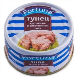 Рыбные консервы Fortuna Тунец кусочками в собственном соку