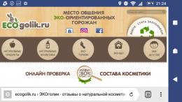 Сайт Ecogolik.ru