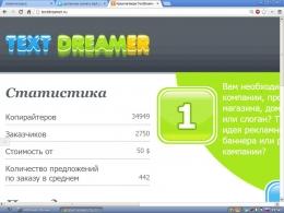 Сайт textdreamer.ru