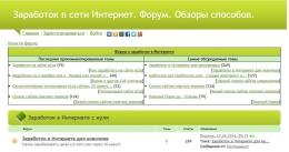 Сайт Zarabotok-forum.ru