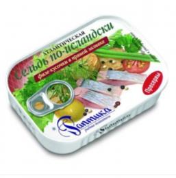Сельдь по-исландски Раптика филе кусочки в пряной заливке