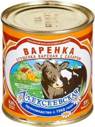 """Сгущенка вареная с сахаром """"Варенка"""" Алексеевская"""