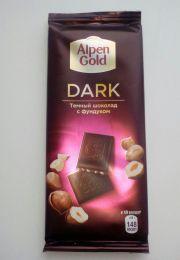 Шоколад Alpen Gold dark Темный с фундуком