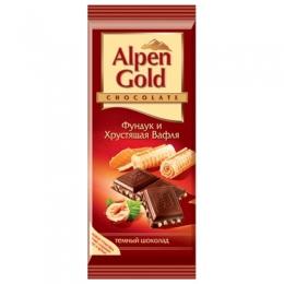 "Шоколад Alpen Gold ""Фундук и хрустящая вафля"""