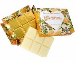 """Шоколад для ванны Pretty Garden """"Апельсин и ваниль"""" с маслом ши Уральская мыловаренная мануфактура"""