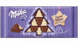 """Шоколад молочный Milka с белым шоколадом в виде елочек """"Sweet winter"""""""