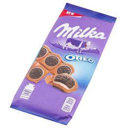 """Шоколад молочный """"Milka"""" с круглым печеньем Oreo со вкусом ванили"""