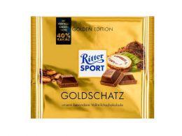 Шоколад молочный Ritter Sport Goldschatz 40% какао