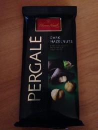 """Шоколад """"Pergale"""" горький с цельным лесным орехом"""