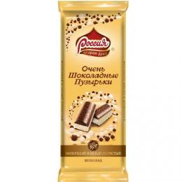 """Шоколад Россия молочный и белый пористый """"Очень шоколадные пузырьки"""""""