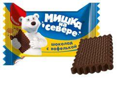 """Шоколад с вафелькой """"Мишка на севере"""" """"Фабрика имени Крупской"""""""