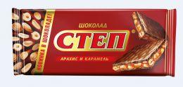 """Шоколад Славянка """"Степ"""" Арахис и карамель"""
