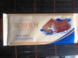 Шоколад темный молочный Roshen Fine milk chocolate