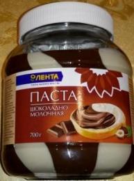 "Шоколадно-молочная паста ""Лента"""
