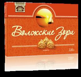 """Шоколадные конфеты """"Волжские зори"""" с вафельной посыпкой"""