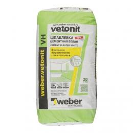 Шпатлевка цементная белая Weber Vetonit VH