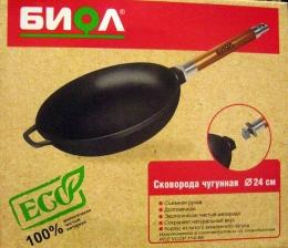 Сковорода Биол чугунная 24см