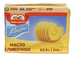 """Сливочное масло """"Лакомо"""" 82,5%"""