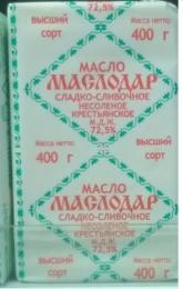 """Масло сладко-сливочное несоленое крестьянское """"Маслодар"""" 72,5%"""