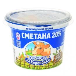"""Сметана """"Коровка из Кореновки"""" 20%"""