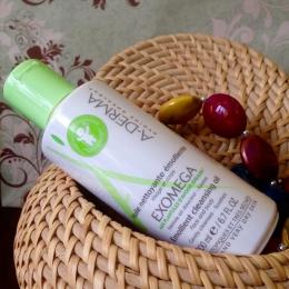 Смягчающее масло для очищения атопичной кожи A-Derma Exomega emollient oil cleansing face and body